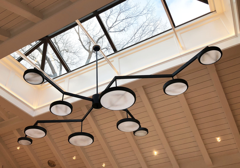 Custom Geometria Sospesa Sei Ceiling Light